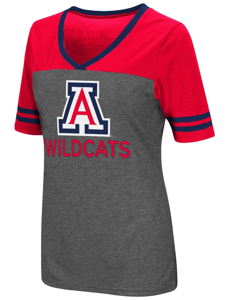 "Arizona Wildcats Women's NCAA ""McTwist"" Dual Blend V-neck T-Shirt"